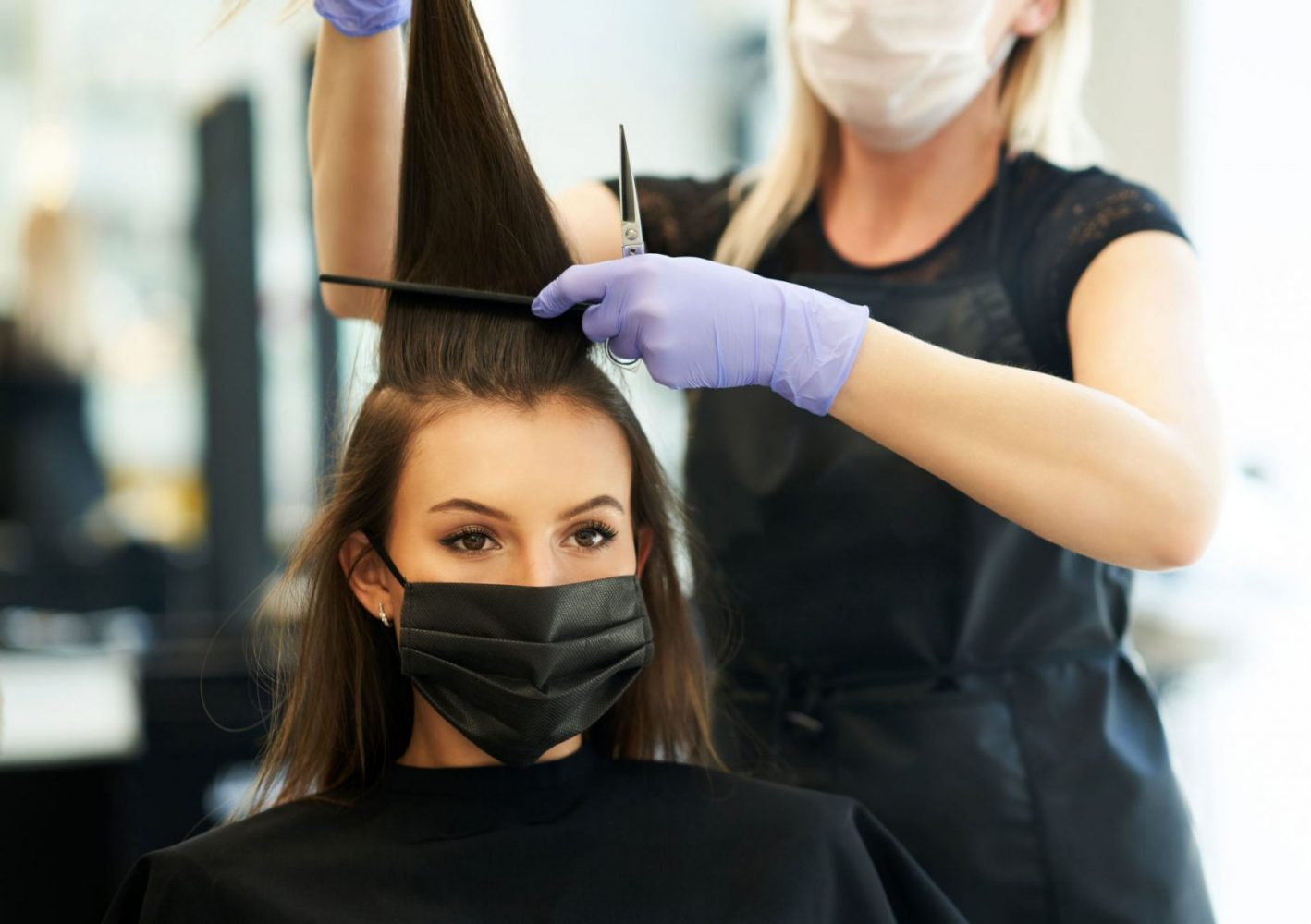 Hair salon sanitiser station