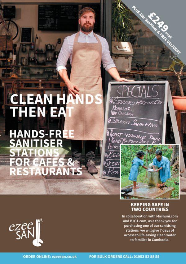 branded hand sanitiser station Restaurant